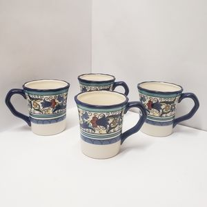4 Pier 1 Imports San Marino Coffee Mugs